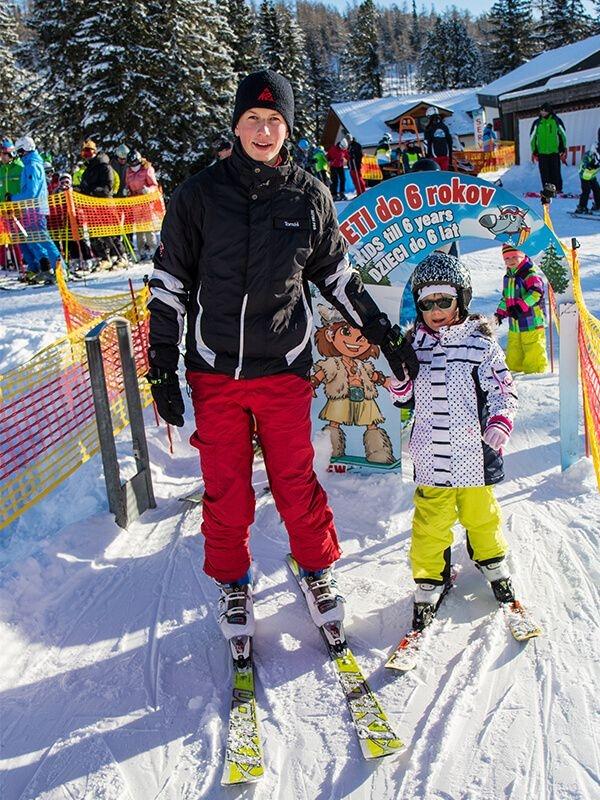 Výučba detského lyžovanie