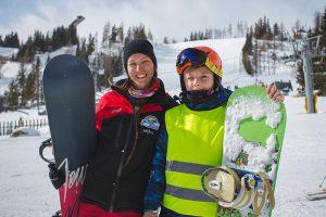 Snowboardová výuka - detská výuka